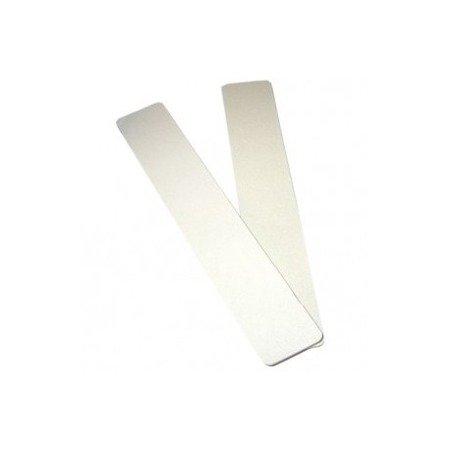 Zestaw 10 pilników szerokich białych 100/180