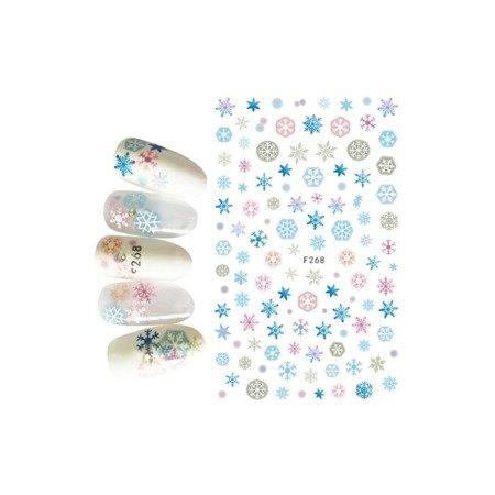 Naklejki świąteczne na paznokcie F268